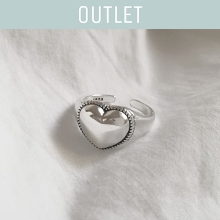 moussy - 【※ワケあり※】925 heart chunky ring  *