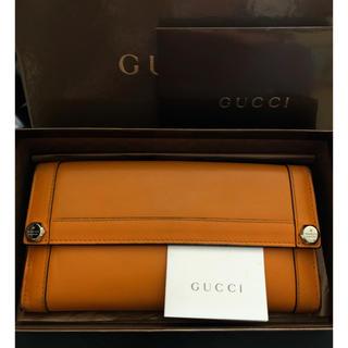 Gucci - セール💫GUCCI長財布レザーオレンジ