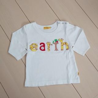アースミュージックアンドエコロジー(earth music & ecology)のEarth music&ecology 七分袖シャツ 80 キリン(Tシャツ/カットソー)
