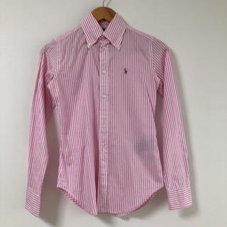 ポロラルフローレン(POLO RALPH LAUREN)のラルフローレン ストライプシャツ ピンク サイズ0(シャツ/ブラウス(長袖/七分))