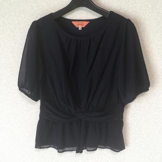 スーナウーナ(SunaUna)のスーナウーナ 38 濃紺 ブラウス 半袖 DMW 涼しい(シャツ/ブラウス(半袖/袖なし))