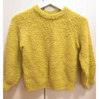 GU - GU 女の子 130cm セーター もこもこ 黄色