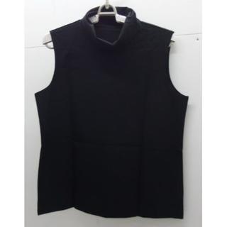 シャルレ - *1279・シャルレ タートルネック 袖なしカットソー 黒 LLサイズ 未使用品