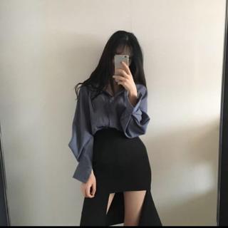 STYLENANDA - 【予約商品】アンバランス スカート 韓国ファッション クラブ服 秋 ホンデ
