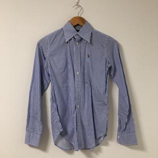 ポロラルフローレン(POLO RALPH LAUREN)のラルフローレン ストライプシャツ ブルー サイズ0(シャツ/ブラウス(長袖/七分))