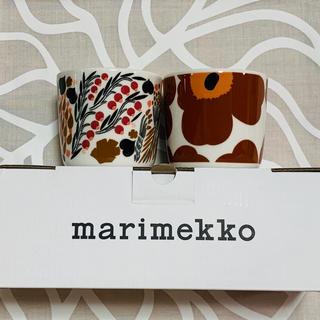 マリメッコ(marimekko)の☆マリメッコ☆ラテマグ  ウニッコ ブラウン&レット☆新作♪(食器)
