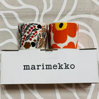 マリメッコ(marimekko)の☆マリメッコ☆ラテマグ  ウニッコ オレンジ&レット☆新作♪(食器)