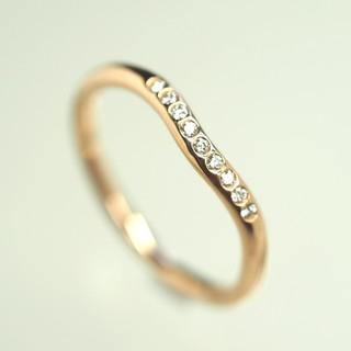 Tiffany & Co. - 質流れ品WH!TIFFANY&Co. ティファニー カーブダイヤリング750PG