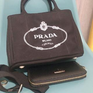 PRADA - PRADA(プラダ) トートバッグ CANAPA  ブラック