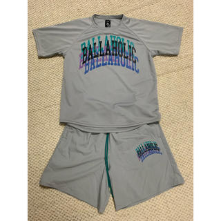 ballaholic college logo tee & shorts L