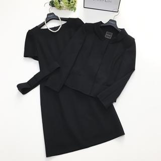 フォクシー(FOXEY)の美品 フォクシー FOXEY サクセス ベルト付 ブラック ワンピース スーツ(スーツ)
