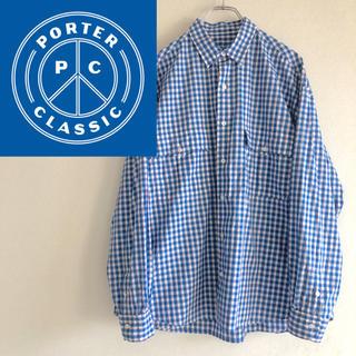 PORTER - porter classic 20ss ロールアップシャツ ギンガムチェック