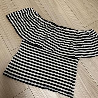 ジェイダ(GYDA)のGYDA💓ボーダー オフショル  ブラック(Tシャツ(半袖/袖なし))