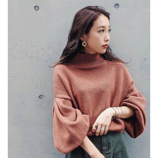 リエンダ(rienda)の rienda M/N Tuck Shoulder Knit TOP (ニット/セーター)