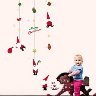 ウォールステッカー サンタ 60003 クリスマス ツリー サンタクロース(その他)