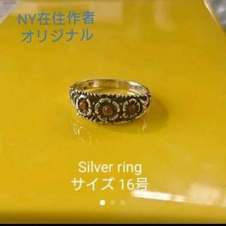 NYより★シルバーリング・フラワーデザイン(リング(指輪))