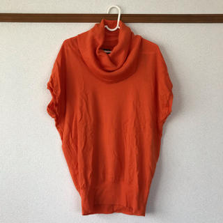 半袖ニット タートルネック オレンジ (ニット/セーター)
