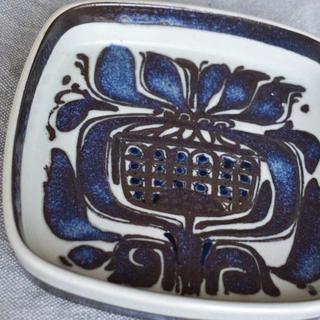 ロイヤルコペンハーゲン(ROYAL COPENHAGEN)の【CR2008-A3】濃いめブルー ロイヤルコペンハーゲン ファヤンス絵皿(食器)