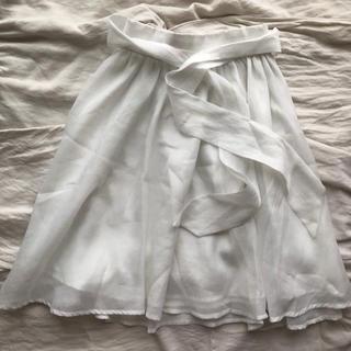 バイバイ(ByeBye)のウエストリボン フレアスカート(ひざ丈スカート)