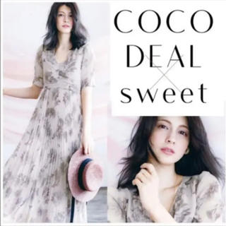 COCO DEAL - 【完売】【確実正規品】cocodeal モノトーンフラワー プリーツ ワンピース