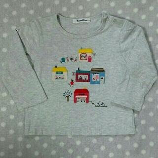 familiar - ファミリア Tシャツ ロンT カットソー トップス 長袖 90