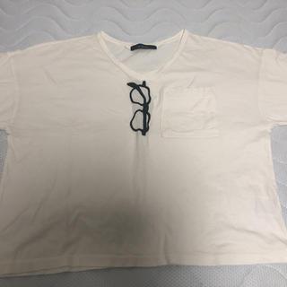 ダブルクローゼット(w closet)のメガネ柄Tシャツ(Tシャツ(半袖/袖なし))