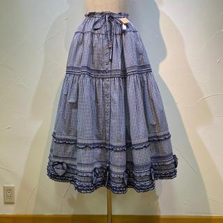 ピンクハウス(PINK HOUSE)の2019年 ピンクハウス大変豪華なハートパッチスカート定価6万3800円美品❗️(ロングスカート)