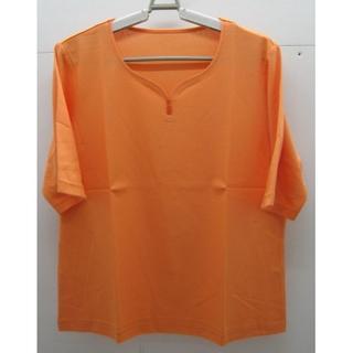 シャルレ(シャルレ)の*1287・シャルレ 半袖カットソー オレンジ LLサイズ 未使用品(カットソー(半袖/袖なし))