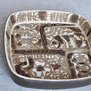 ロイヤルコペンハーゲン(ROYAL COPENHAGEN)の【CR2008-A4】さかなモチーフ▼ロイヤルコペンハーゲン ファヤンス絵皿(食器)