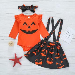 ハロウィン キッズ かぼちゃ 3点セット子供用 衣装 コスプレ 女の子