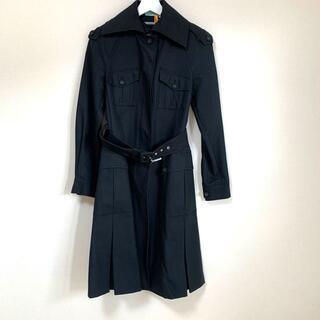 マックスマーラ(Max Mara)のMAXMARA スポーツマックス ベルト付きコート 黒(トレンチコート)
