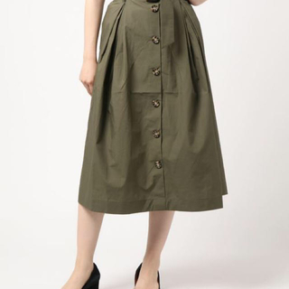 ディスコート(Discoat)の秋色♡ベルト付き前ボタンロングスカート(ロングスカート)