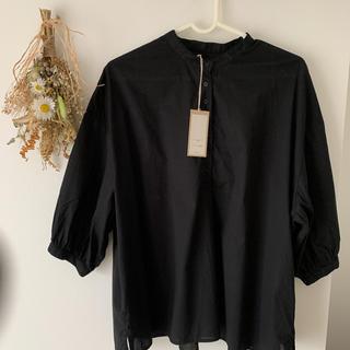 ネストローブ(nest Robe)の休日と詩 マルシェブラウス 7分袖 ブラック(シャツ/ブラウス(長袖/七分))