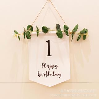 ♡新品未使用♡誕生日 飾り 壁掛け 1歳 birthday  タペストリー