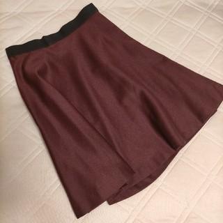 デミルクスビームス(Demi-Luxe BEAMS)のデミルクスビームス  秋冬 スカート ボルドー(ひざ丈スカート)