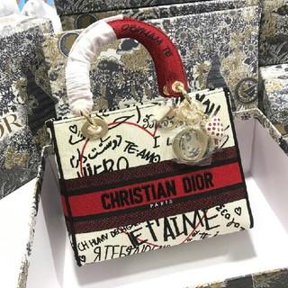 クリスチャンディオール(Christian Dior)の希少 DIORAMOUR LADY D-LITE ミディアムバッグ(ショルダーバッグ)