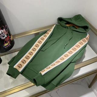Gucci - GUCCI★フード コットン ジャージ スウェットシャツ