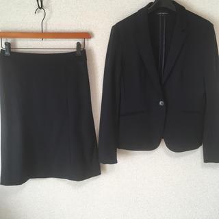 ニジュウサンク(23区)の23区 スカートスーツ 38 W74 濃紺 ストレッチ OL 面接 DMW(スーツ)