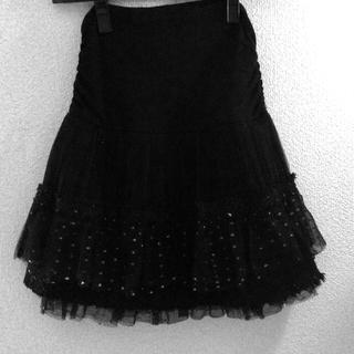 ココディール(COCO DEAL)のCOCODEAL/ミニスカート/ラメ黒(ミニスカート)