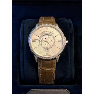 ハリーウィンストン(HARRY WINSTON)の①HARRYWINSTON ミッドナイト ムーンフェイズ39mm ダイヤベゼル(腕時計(アナログ))
