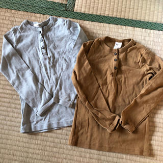 H&M - H&M ヘンリーネック長袖Tシャツ ロンT 104センチ
