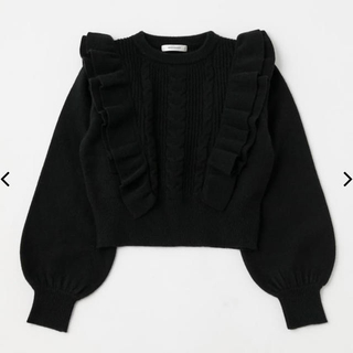 MOUSSY❤︎RUFFLE SHOULDER KNIT TOP