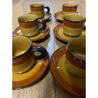 南紀御浜窯 コーヒーカップ&ソーサー 6客セット 新品未使用(食器)