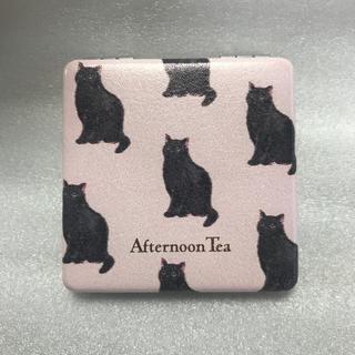 アフタヌーンティー(AfternoonTea)のアフタヌーンティー コンパクトミラー 猫柄(ミラー)