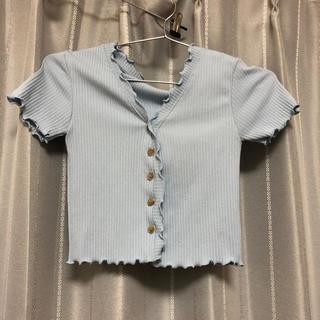 スタイルナンダ(STYLENANDA)の韓国 半袖トップス 水色(Tシャツ(半袖/袖なし))