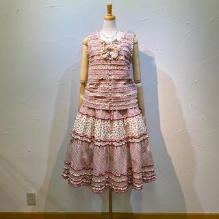 PINK HOUSE - 2020年4月発送❗️ピンクハウス ブラウス&スカートのセット定価6万8200円