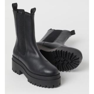 エイチアンドエム(H&M)の【新品未使用】プラットフォームチェルシーブーツ/size35(ブーツ)