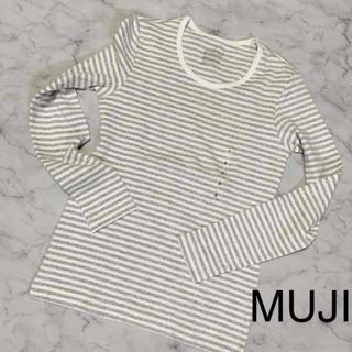ムジルシリョウヒン(MUJI (無印良品))の長袖Tシャツ ボーダー クルーネック S(Tシャツ(長袖/七分))
