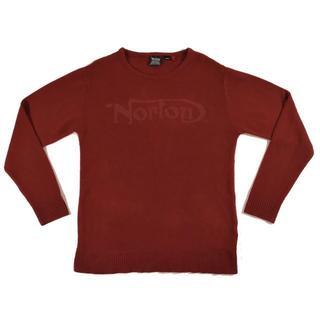 ノートン(Norton)のNortonノートンクルーネックニット赤Lサイズトライアンフ(ニット/セーター)