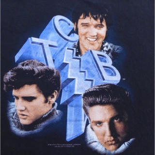 ヘインズ(Hanes)の古着半袖ビンテージロックバンドTシャツ00sエルビスコッ20jun05(Tシャツ/カットソー(半袖/袖なし))